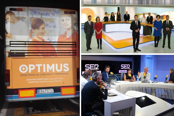 Optimus prepara la Navidad con campañas publicitarias en Asturias, Cataluña, Baleares y Aragón