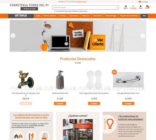 Nuevas webs Optimus para 25 socios