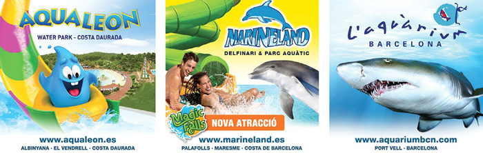 Nuevo acuerdo de promoción con L'Aquàrium, Aqualeon y Marineland