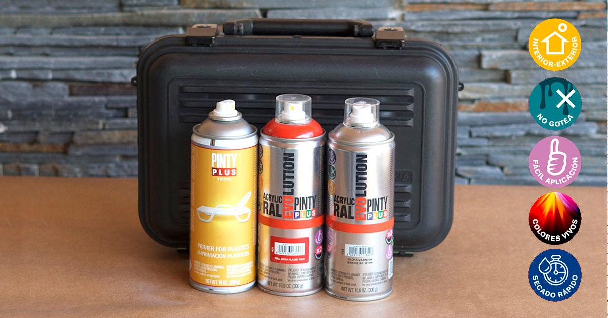 Renova els teus objectes de plàstic amb pintura en esprai!
