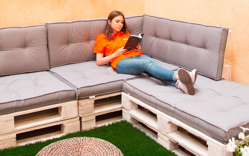 Fes-te un sofà con palets!