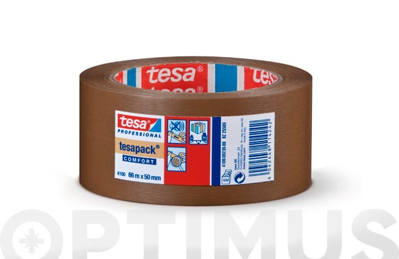 Cinta embalar pvc rugoso marron 66 m x 50 mm