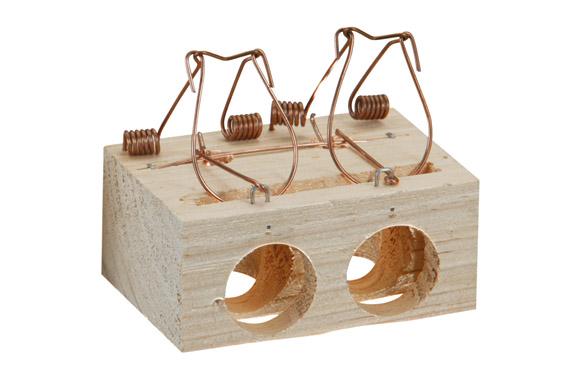 Ratonera madera 2 agujeros ø 28 mm