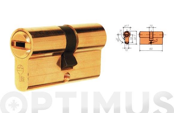 Cilindro ds10 laton llave puntos 30-30