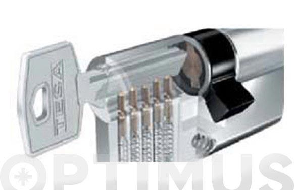 Cilindro te5 laton llave serreta 30-30 leva corta