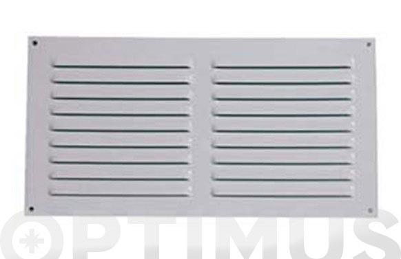 Rejilla sin borde aluminio metalizado 0,8 15 x 30 cm con gancho