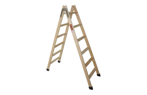 Escalera madera pino doble c/taco 4 peldaños