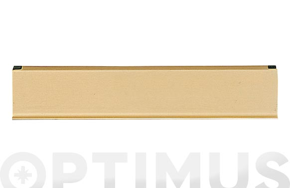 Bocacartas aluminio color dorado