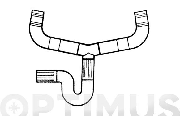 Sifon flexible .p.v.c. doble fregadero ø 34