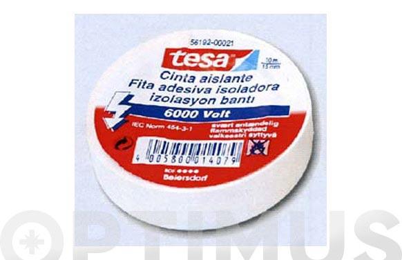 Cinta aislante tesaflex 53948-10x15 azul