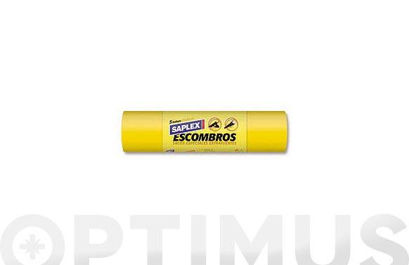 Saco especial escombros 50l (5u) 55x80 amarillo g-340