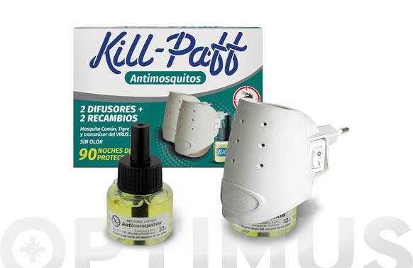 Aparato kill paff+matamosquito 2 aparatos + recambio