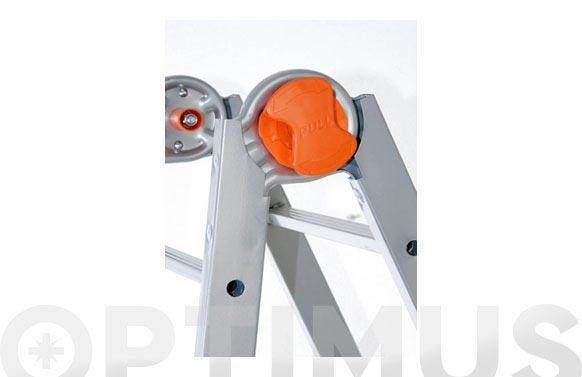 Escalera telescopica acero 4+5 peldaños