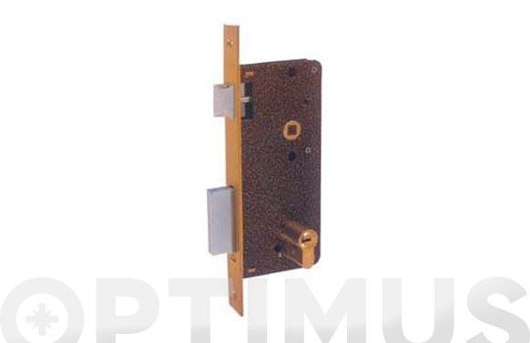 Cerradura seguridad laton paleton golpe y llave 720/70-ds15/70d