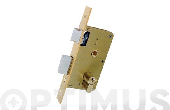Cerradura embutir madera golpe y llave 3100-hl/124x35