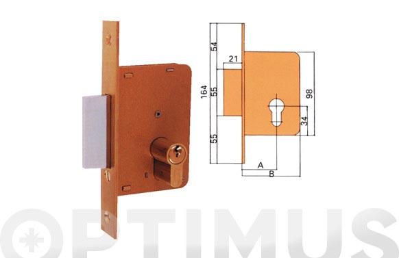 Cerradura embutir madera llave sola 4200-hl/98x35