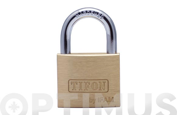 Candado laton tifon arco normal 20 mm