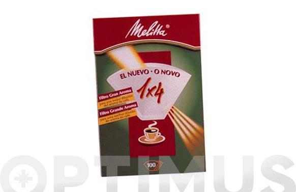 Papel filtro cafetera melitta 1 x 4/40