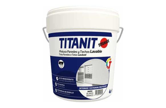 Pintura plastica blanco mate titanit 4 litros