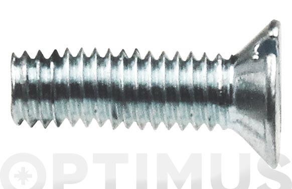 Tornillo din 963 cabeca plana cincado m-5 x 50 mm