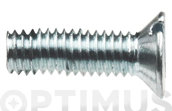 Tornillo din 963 cabeza plana cincado m-5 x 50 mm