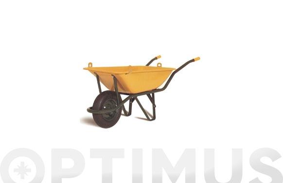 Carretilla metalica amarilla honda con ganchos se 550-90 l rueda neumatica
