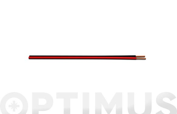 Cable audio rojo/negro 2x0,75