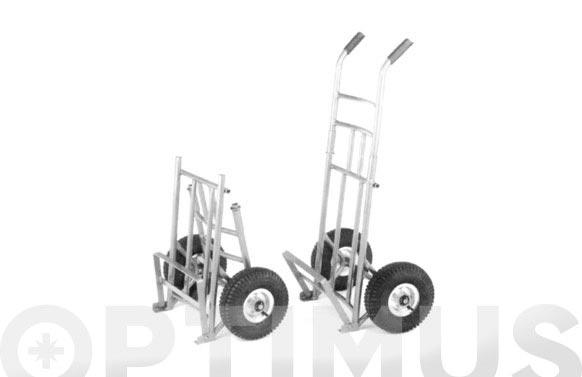 Carretilla transporte ligero plegable pl-2-n 100 kg pala abatible