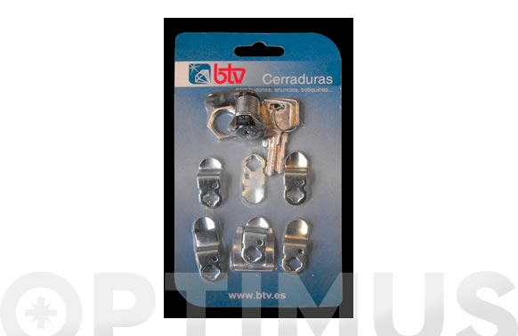 Cerradura para buzon kit-1 cromo