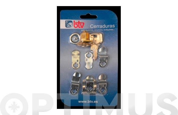 Cerradura p/buzon kit-2 oro