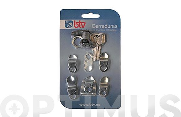 Cerradura p/buzon cartero kit-1 cromo