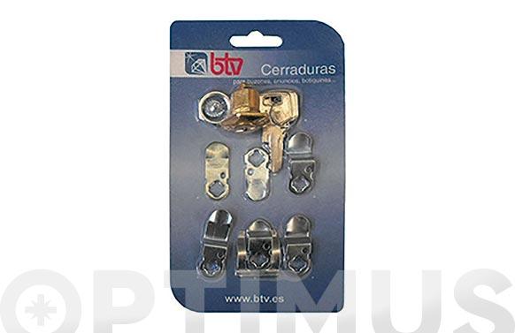 Cerradura p/buzon cartero kit-2 oro