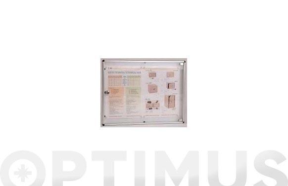 Panel de anuncios 67 x 46 cm aluminio natural