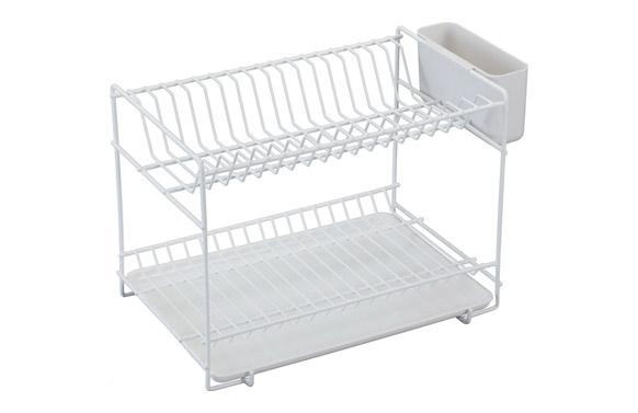 Escurreplatos plastificado blanco pequeño