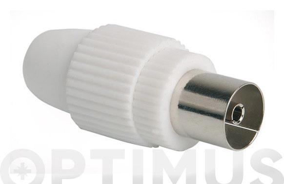 Conector p/cab.coaxial tv (bl) hembra