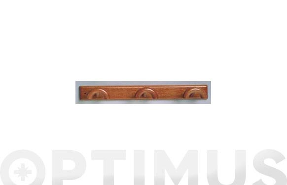 Colgador triple madera (bl 1u) sapelly