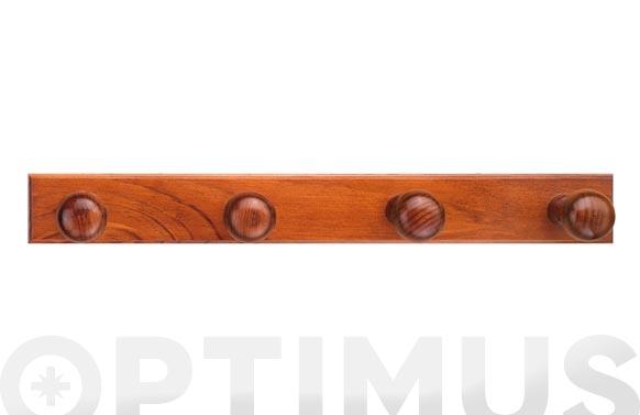 Colgador con tornillos 4 ganchos madera pino 1464 avellana