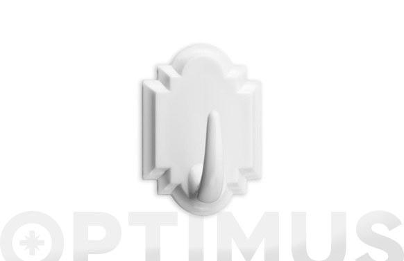 Colgador adhesivo blanco 2 unidades