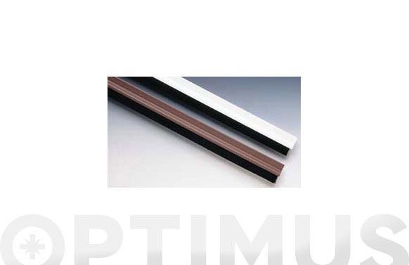 Burlete bajo puerta pvc/cepillo adhesivo 90 cm blanco