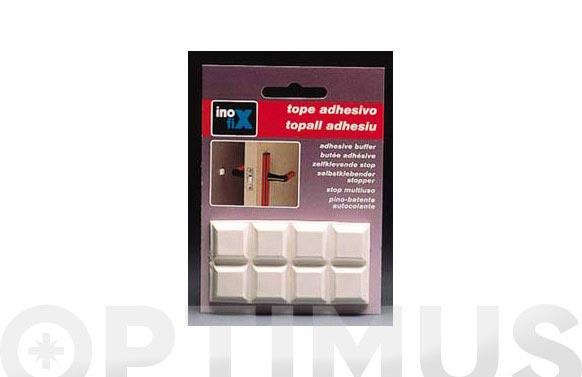 Tope multiuso adhesivo 16x16 (bl) blanco