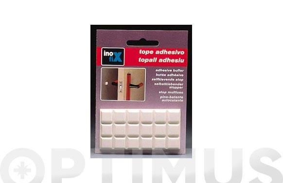 Tope multiuso adhesivo 12x12 (bl) blanco
