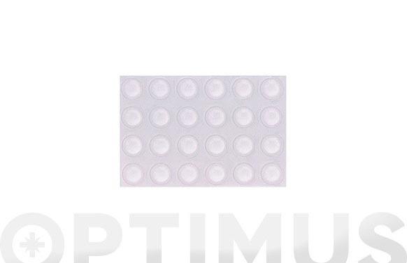 Gota transparente adhesivo 8 mm