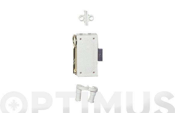 Cerradura falleba plastico s/accesorios ni varilla 1505 blanca llave zamac a42