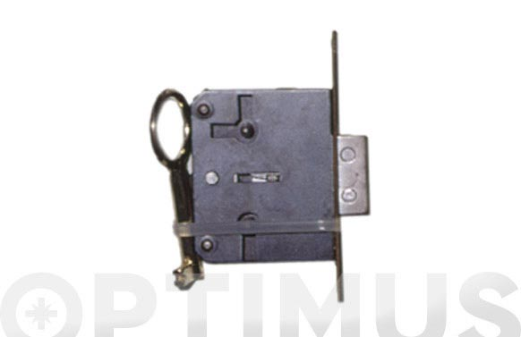 Cerradura embutir para mueble frente laton 200/25 llave zamac a35