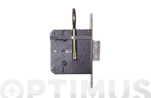 Cerradura embutir para mueble frente laton 205/20 llave laton a35