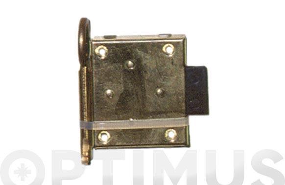 Cerradura sobreponer para mueble laton 207/25 llave zamac a42