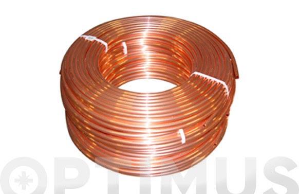 Tubo cobre en rollo 50 mts 16 x 18