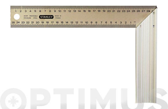 Escuadra carpintero inox-aluminio 250 mm