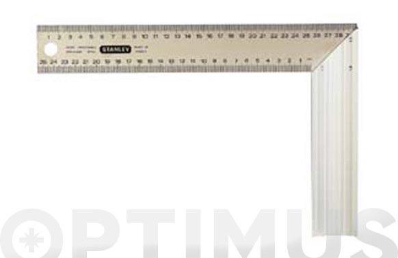Escuadra carpintero inox-aluminio 300 mm