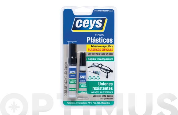 Adhesivo cyanoceys plasticos 3 gr + 4 ml